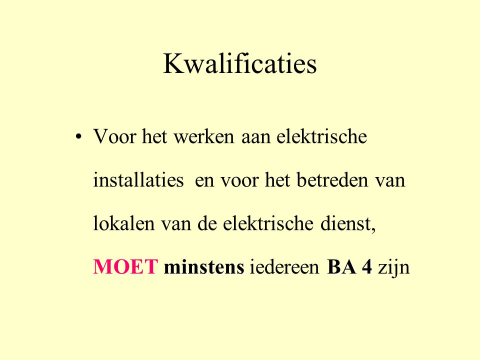 Kwalificaties