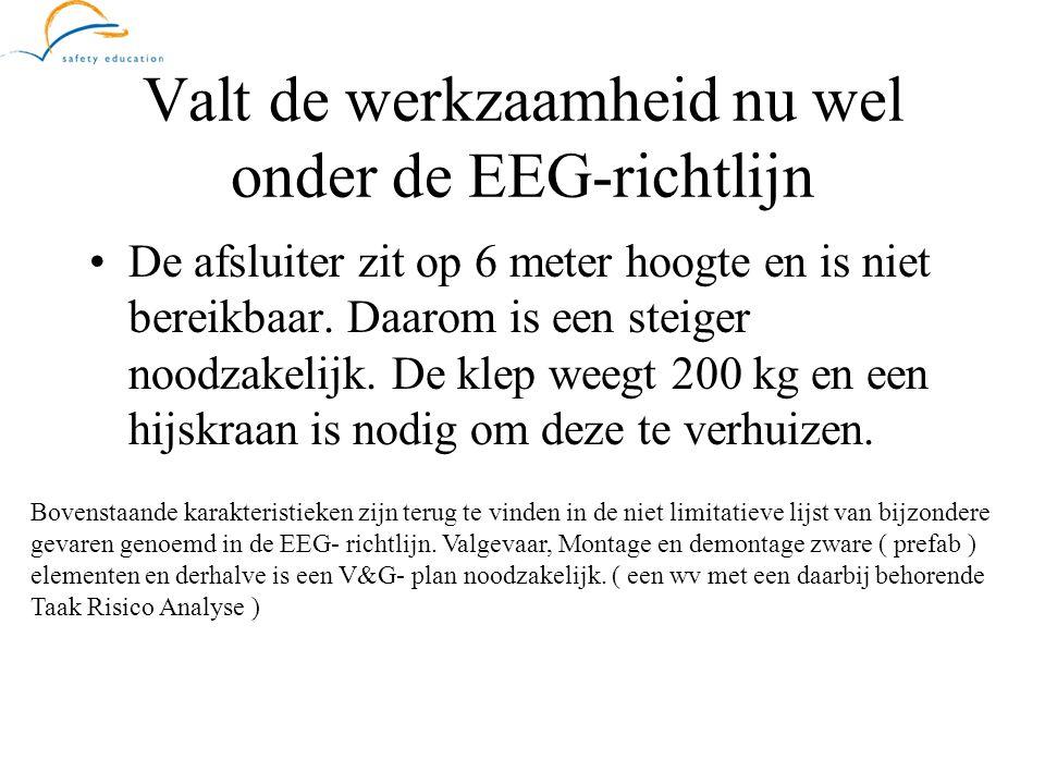 Valt de werkzaamheid nu wel onder de EEG-richtlijn