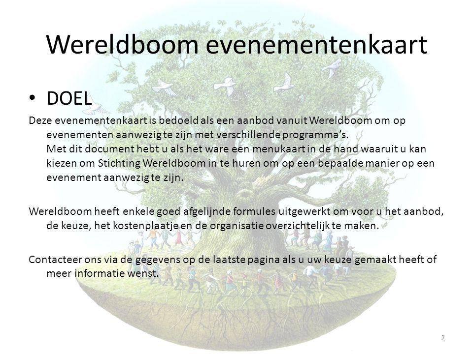 Wereldboom evenementenkaart