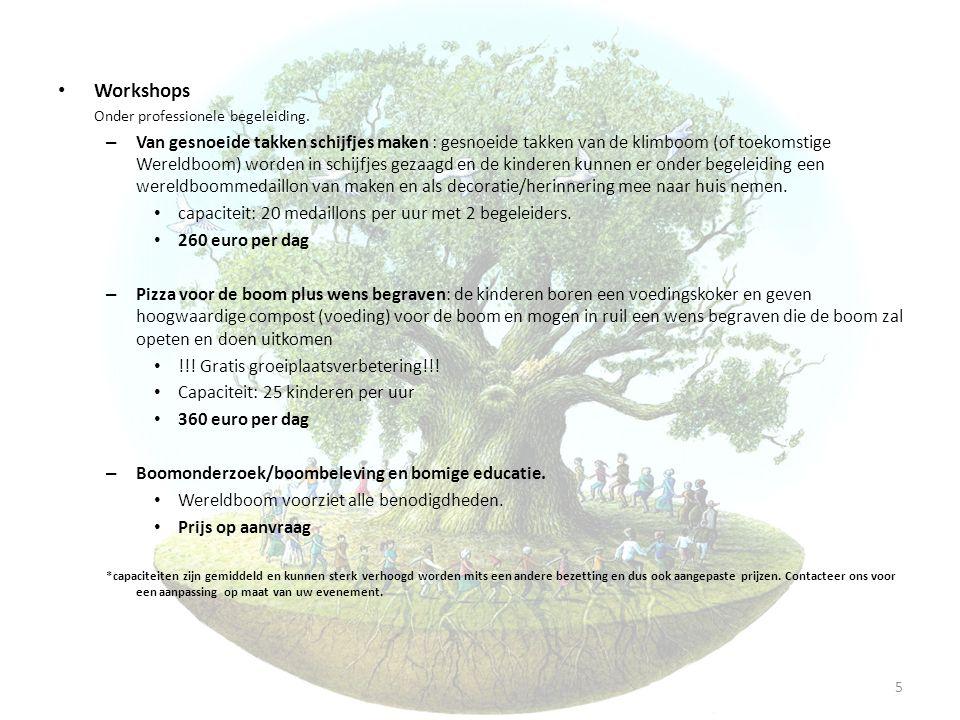Workshops Onder professionele begeleiding.