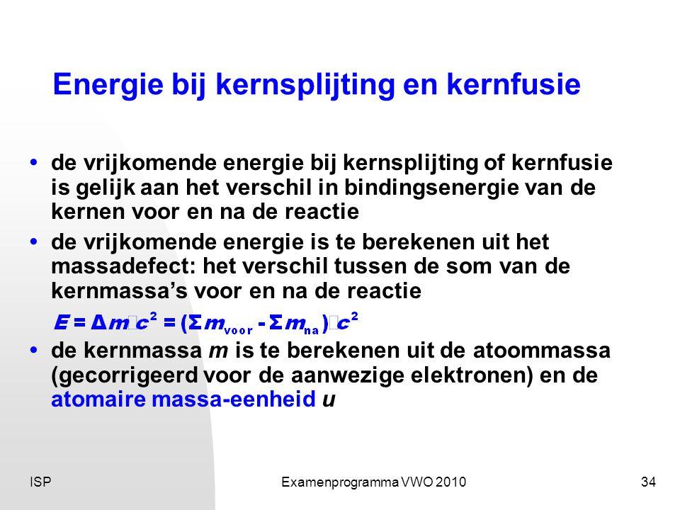 Energie bij kernsplijting en kernfusie