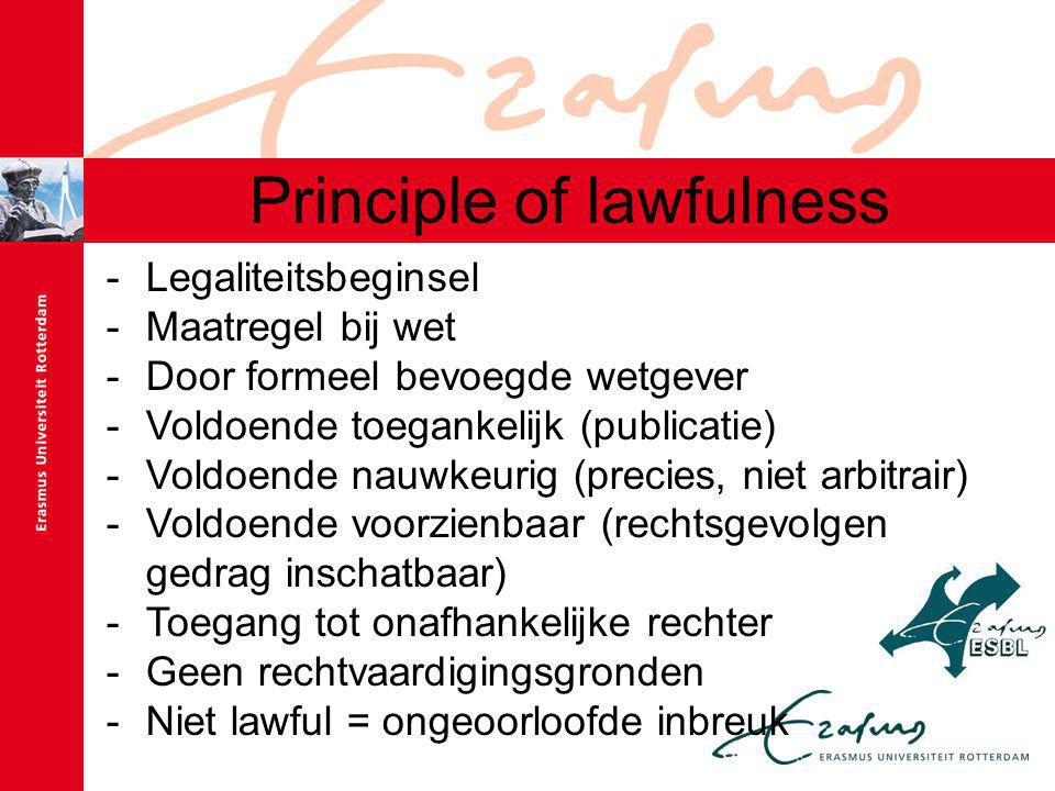 Principle of lawfulness