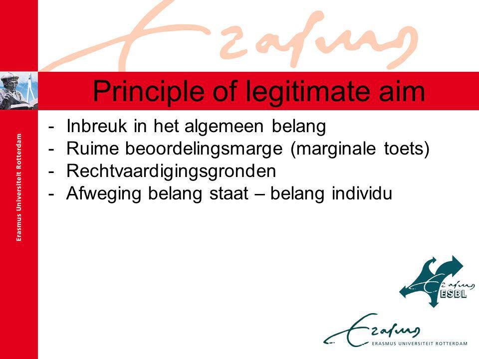 Principle of legitimate aim