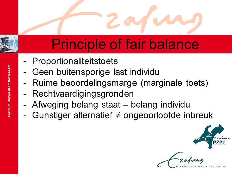 Principle of fair balance