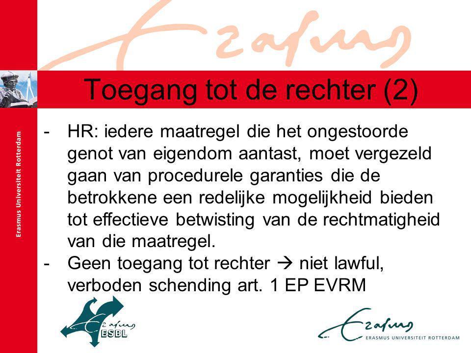 Toegang tot de rechter (2)