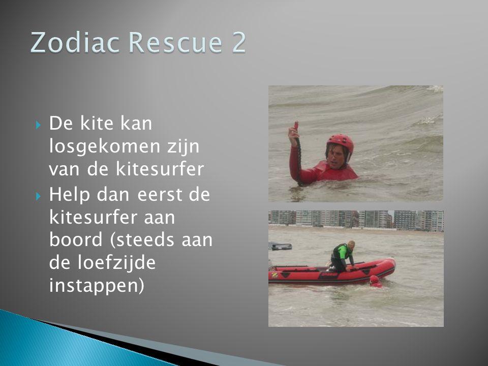Zodiac Rescue 2 De kite kan losgekomen zijn van de kitesurfer