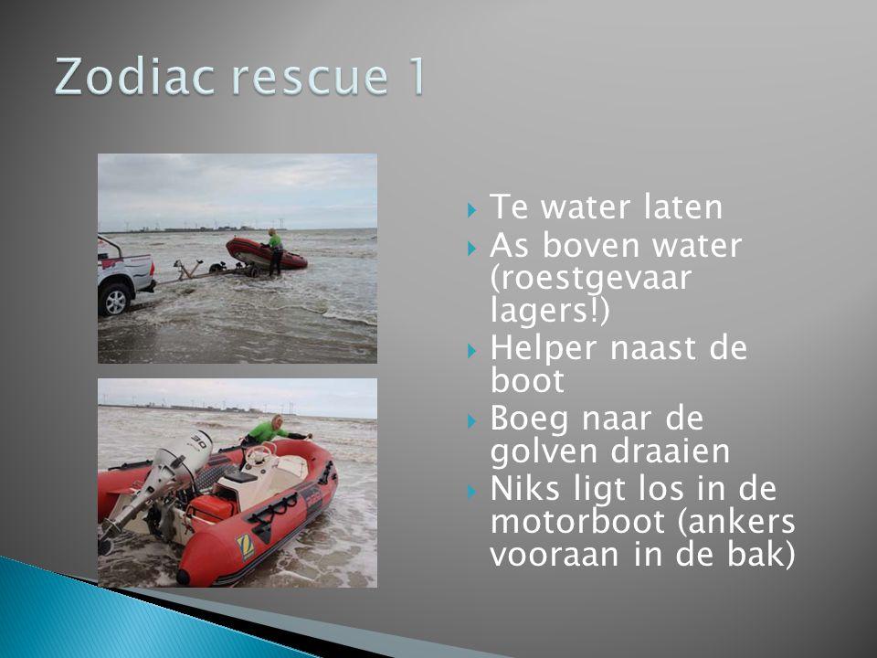 Zodiac rescue 1 Te water laten As boven water (roestgevaar lagers!)