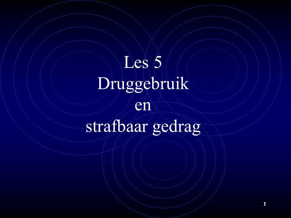 Les 5 Druggebruik en strafbaar gedrag