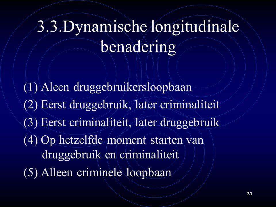 3.3.Dynamische longitudinale benadering