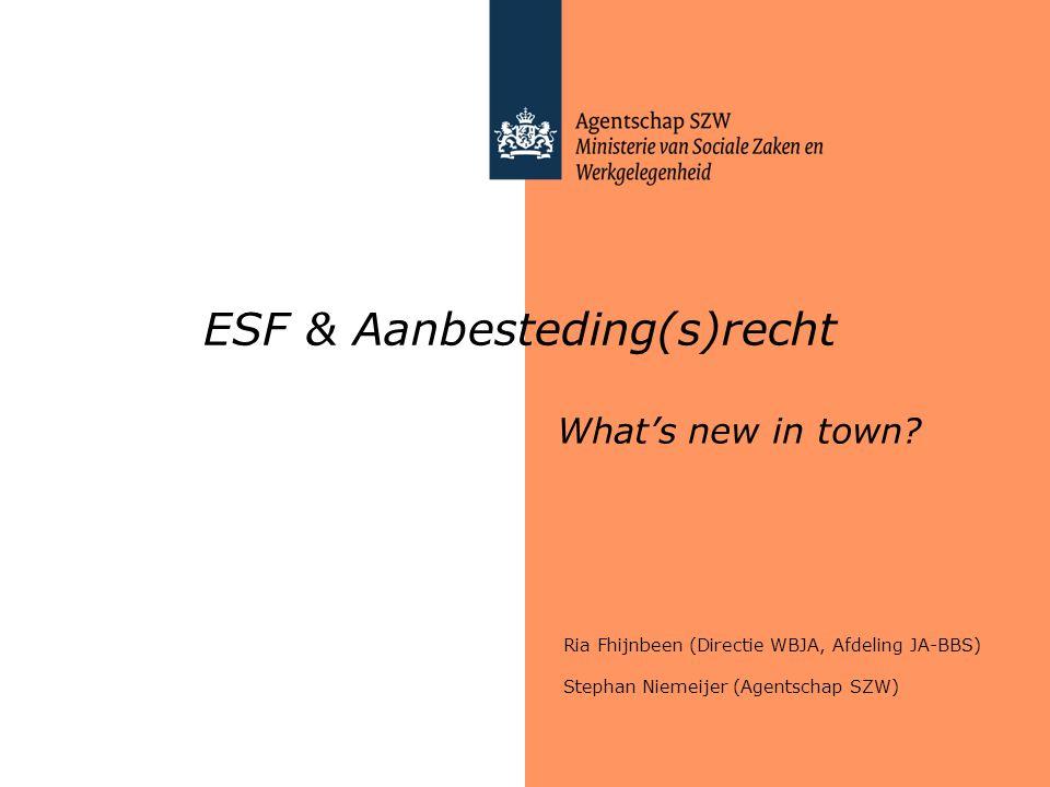 ESF & Aanbesteding(s)recht