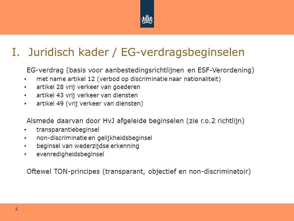 Juridisch kader / EG-verdragsbeginselen