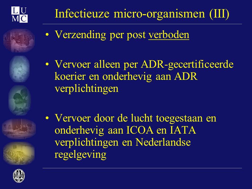 Infectieuze micro-organismen (III)