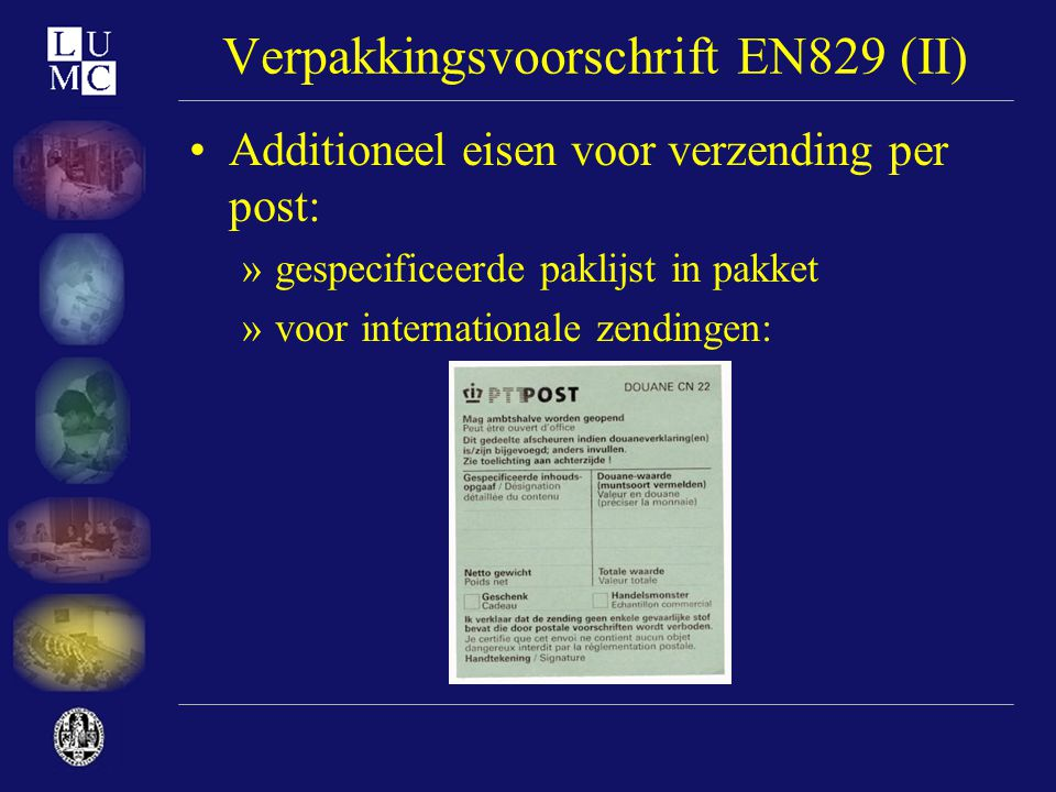 Verpakkingsvoorschrift EN829 (II)