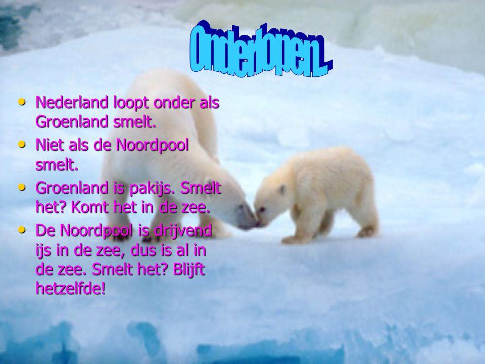 Onderlopen... Nederland loopt onder als Groenland smelt.