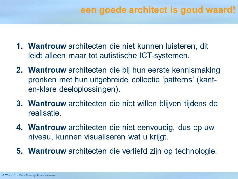 een goede architect is goud waard!