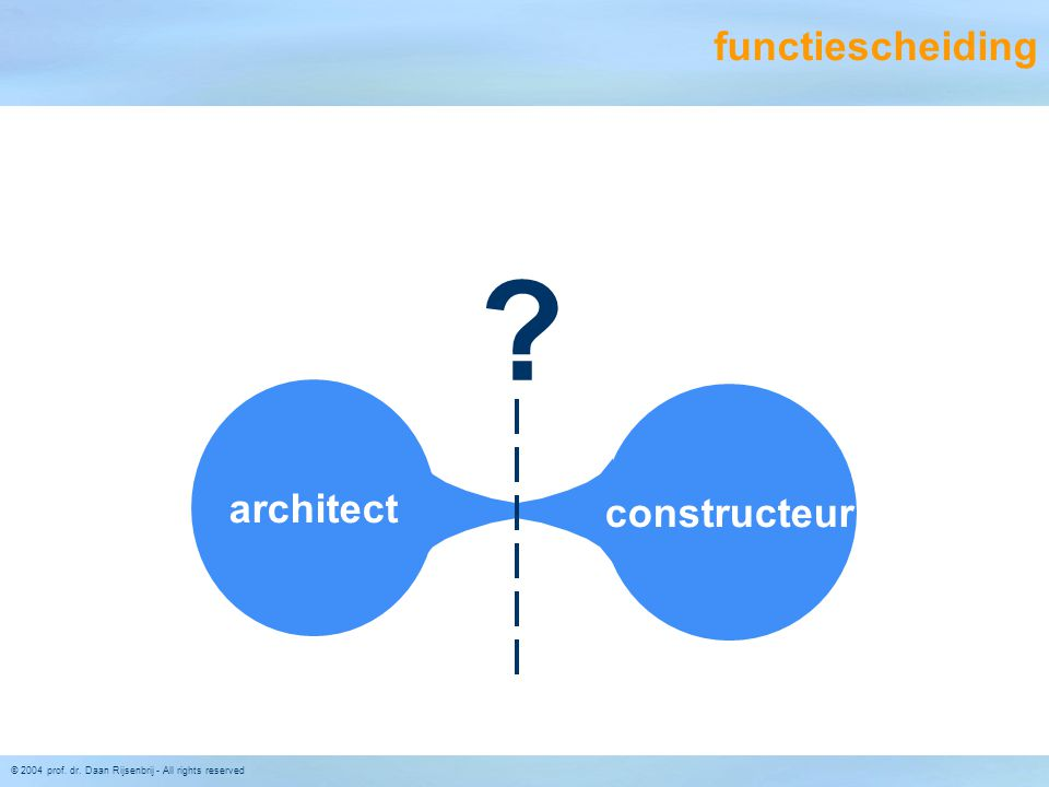 functiescheiding architect constructeur