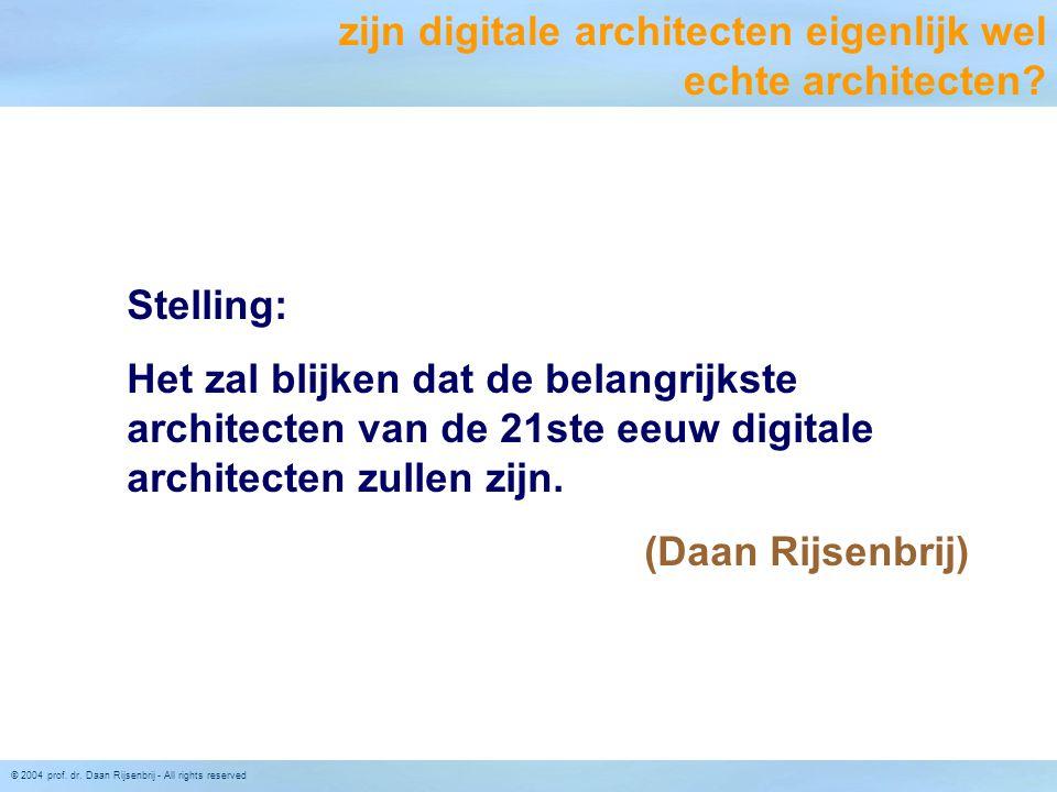 zijn digitale architecten eigenlijk wel echte architecten