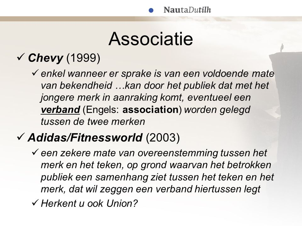 Associatie Chevy (1999) Adidas/Fitnessworld (2003)