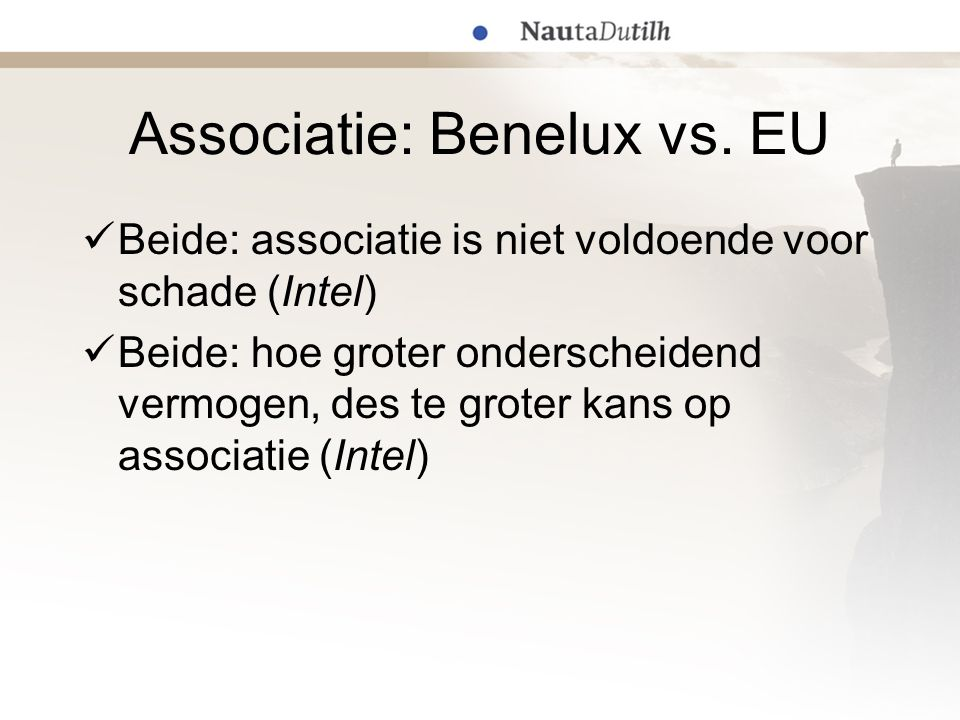 Associatie: Benelux vs. EU