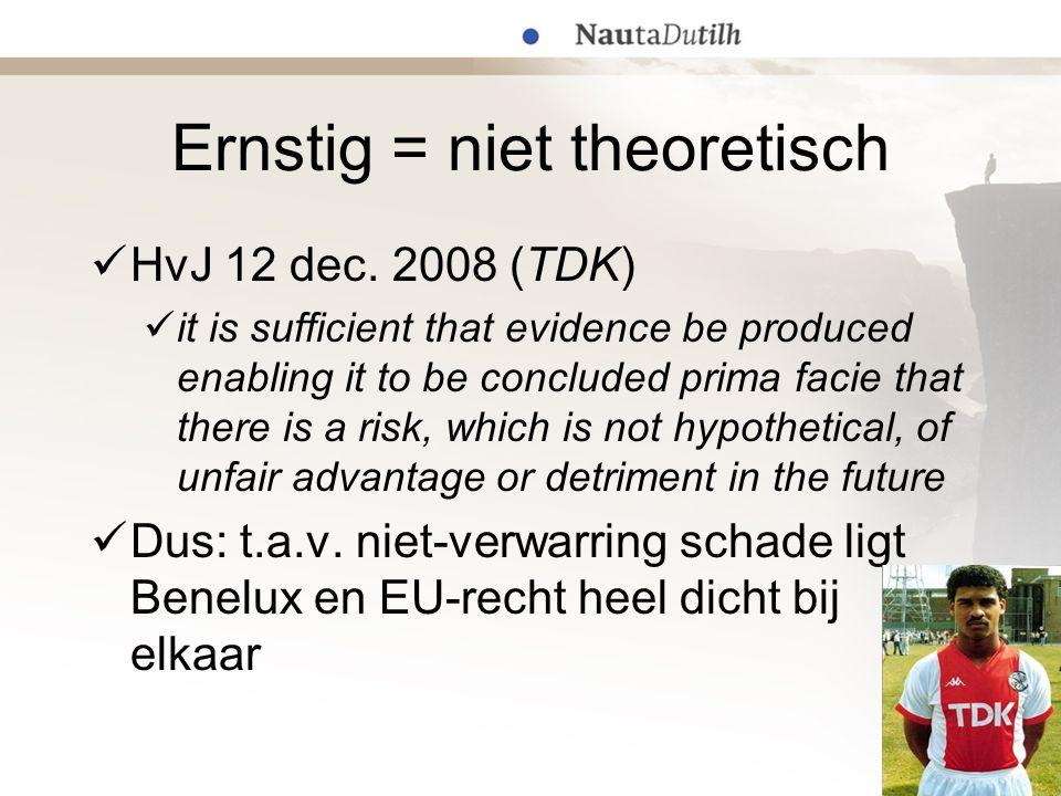 Ernstig = niet theoretisch