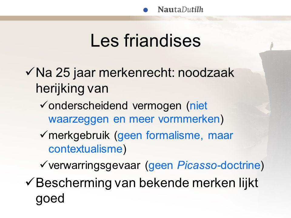 Les friandises Na 25 jaar merkenrecht: noodzaak herijking van