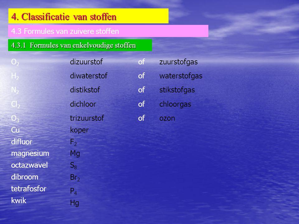 4. Classificatie van stoffen