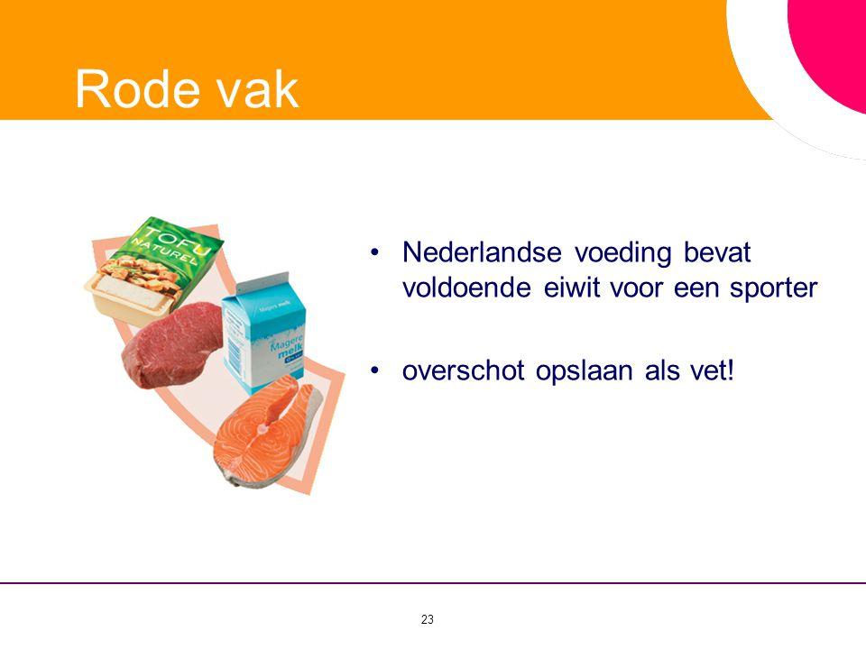 Rode vak Nederlandse voeding bevat voldoende eiwit voor een sporter