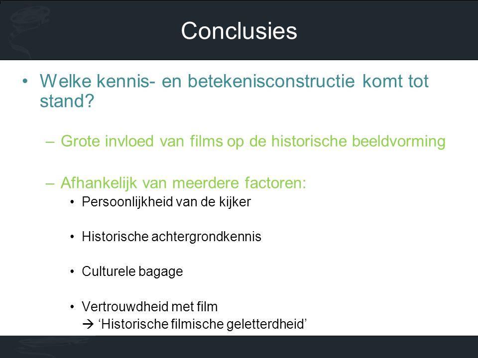 Conclusies Welke kennis- en betekenisconstructie komt tot stand