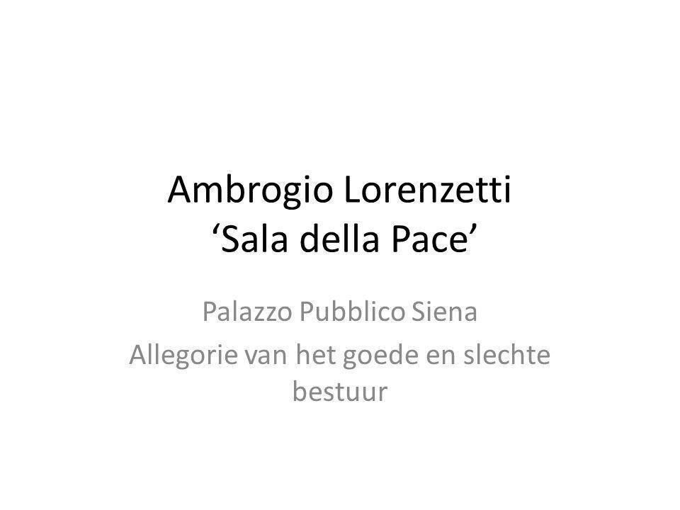 Ambrogio Lorenzetti 'Sala della Pace'