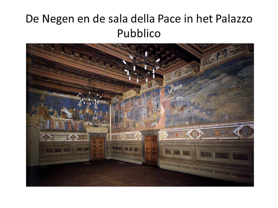 De Negen en de sala della Pace in het Palazzo Pubblico