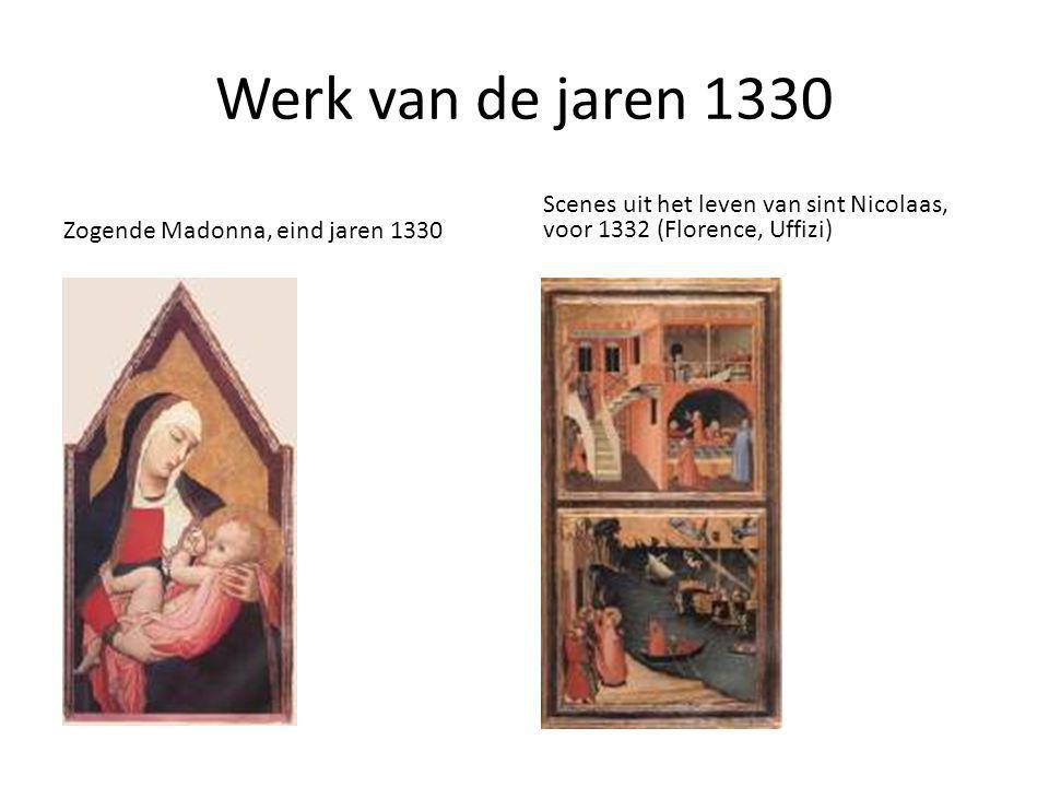 Werk van de jaren 1330 Zogende Madonna, eind jaren 1330.