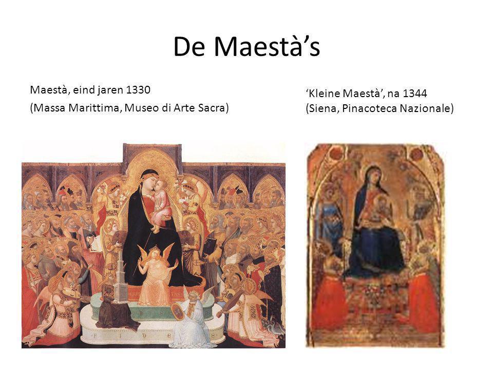 De Maestà's Maestà, eind jaren 1330 'Kleine Maestà', na 1344