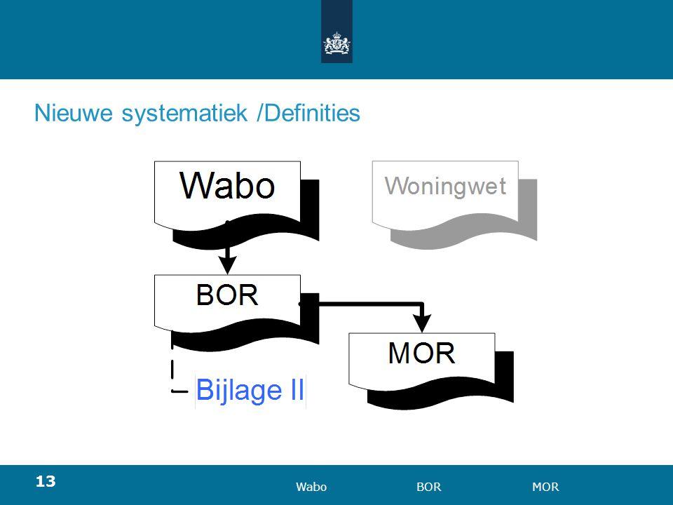 Nieuwe systematiek /Definities