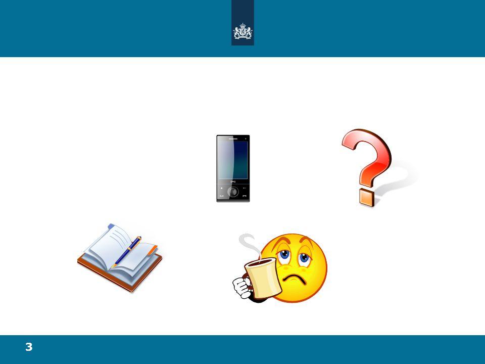 Mobiele telefoon: uit, of indien noodzakelijk op stil, stoor de medecursisten zo min mogelijk.