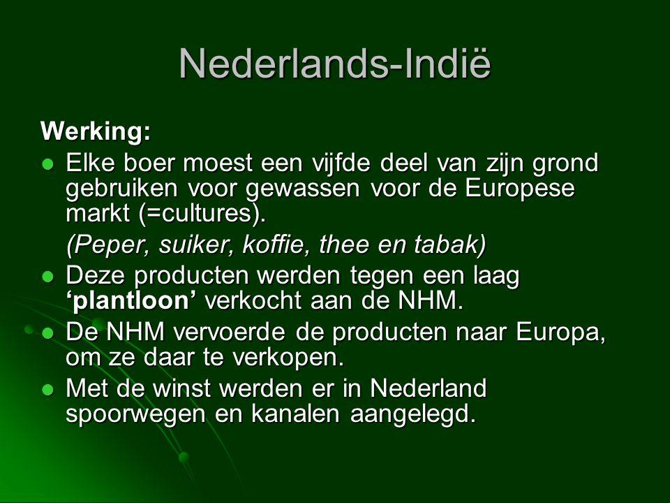Nederlands-Indië Werking: