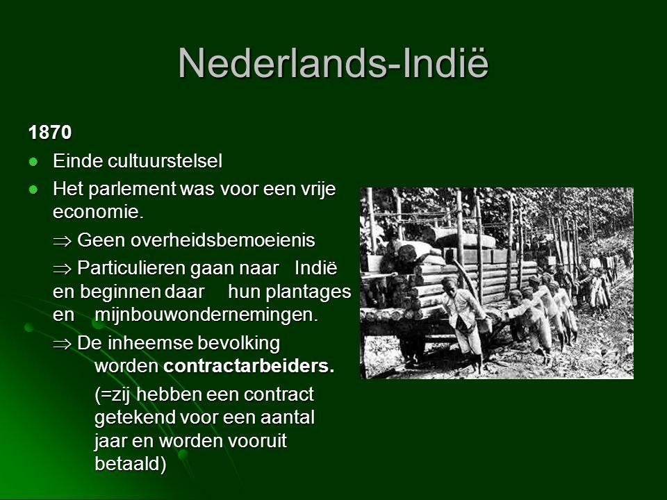 Nederlands-Indië 1870 Einde cultuurstelsel