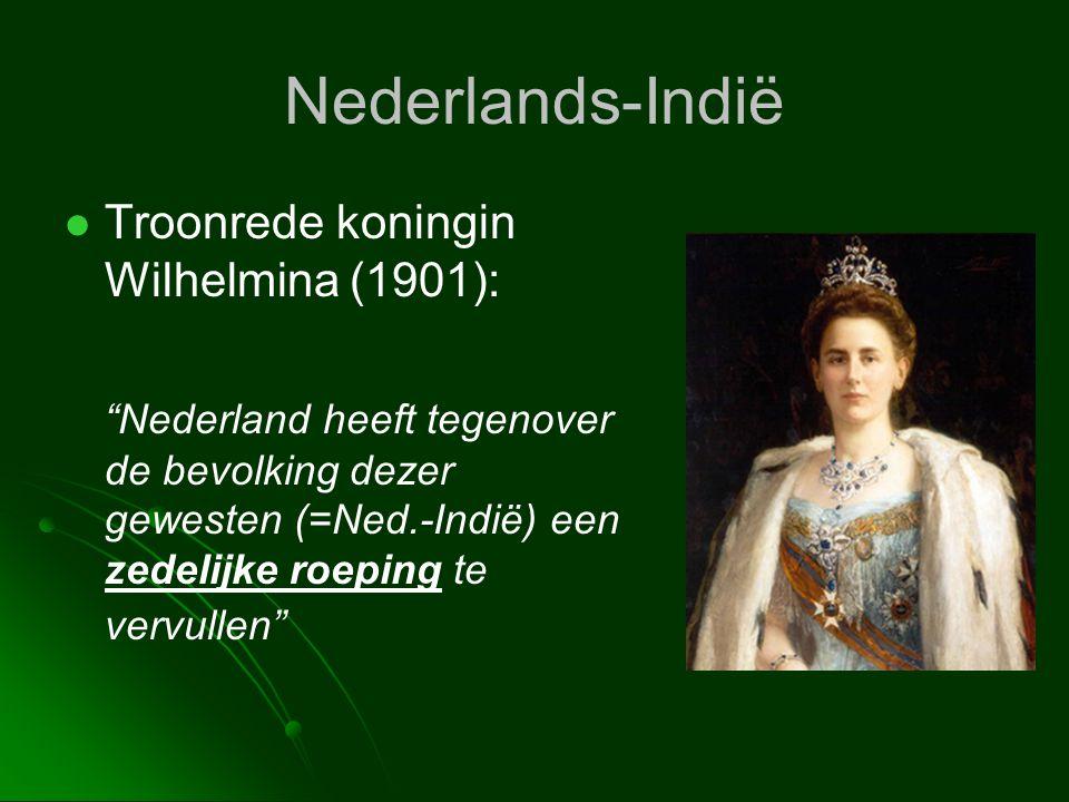 Nederlands-Indië Troonrede koningin Wilhelmina (1901):
