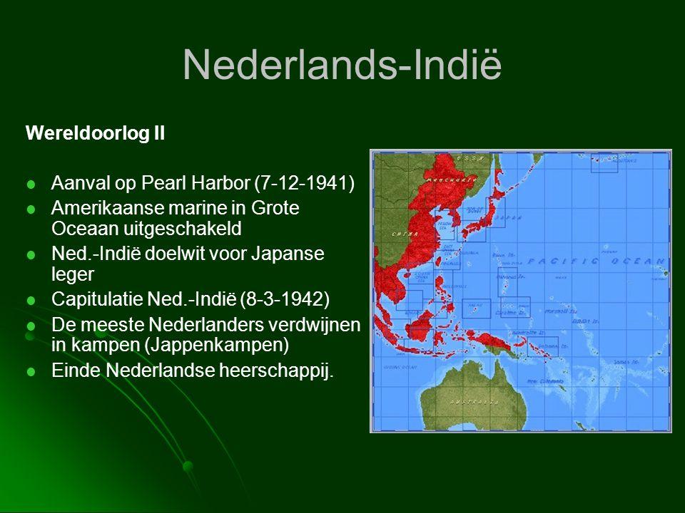 Nederlands-Indië Wereldoorlog II Aanval op Pearl Harbor (7-12-1941)
