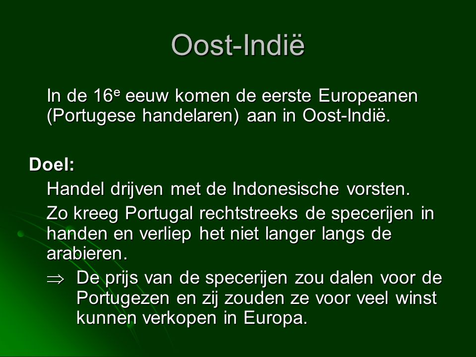 Oost indi nederlands indi indonesi ppt download for Nederlands voor arabieren