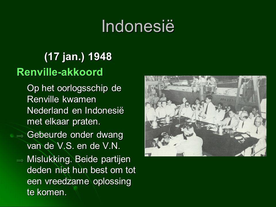 Indonesië (17 jan.) 1948 Renville-akkoord