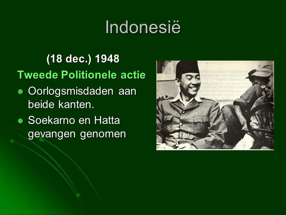 Indonesië (18 dec.) 1948 Tweede Politionele actie