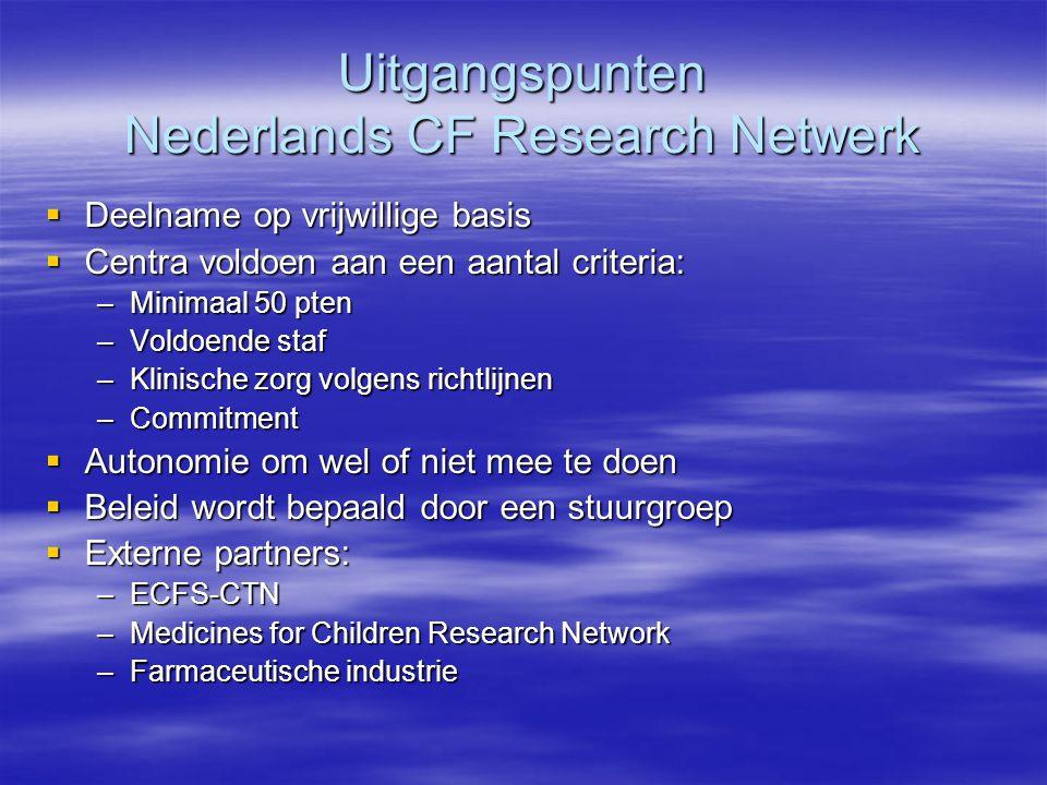 Uitgangspunten Nederlands CF Research Netwerk