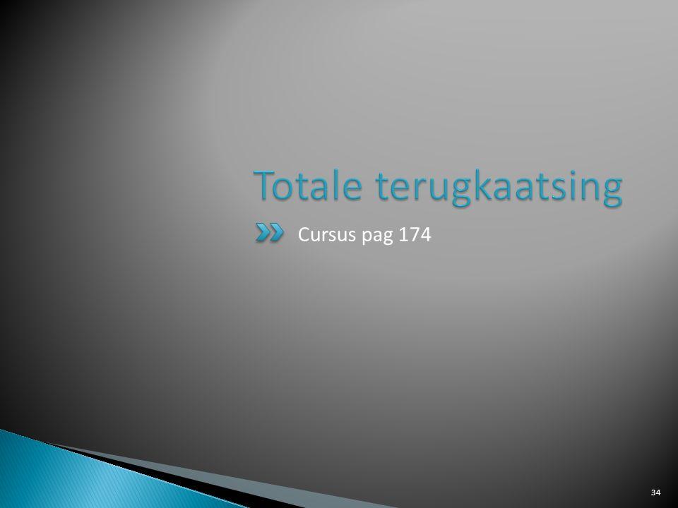 Totale terugkaatsing Cursus pag 174