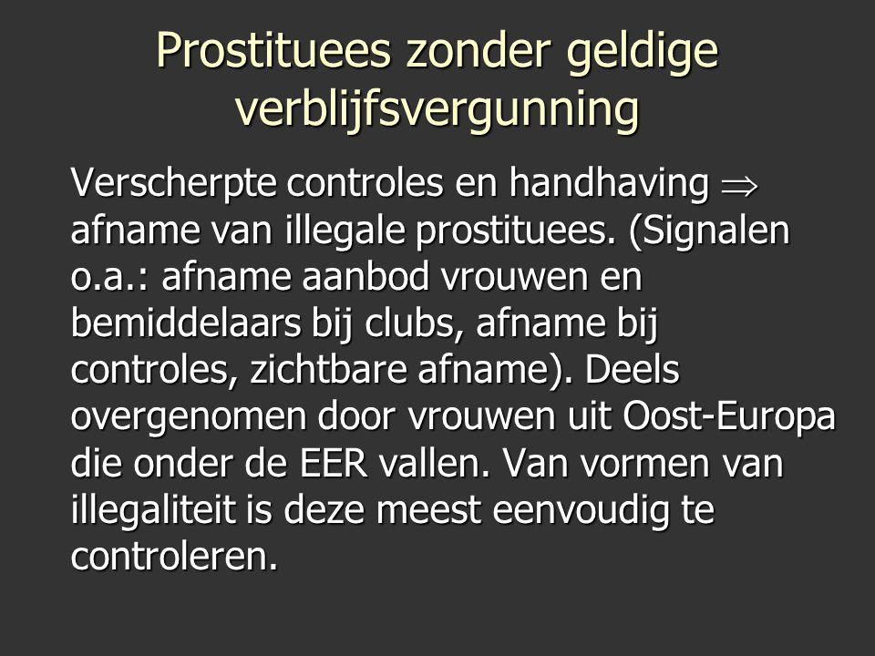Prostituees zonder geldige verblijfsvergunning