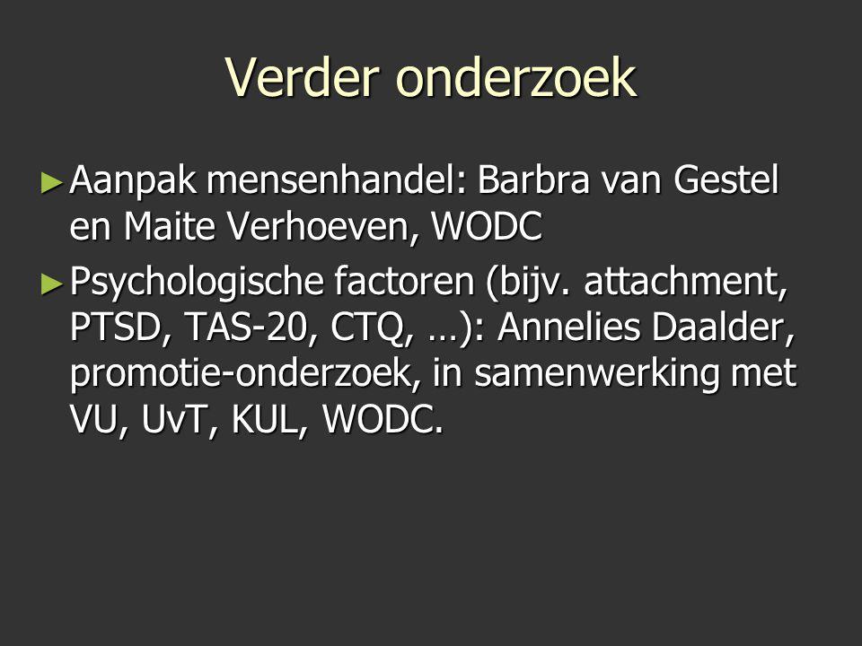 Verder onderzoek Aanpak mensenhandel: Barbra van Gestel en Maite Verhoeven, WODC.