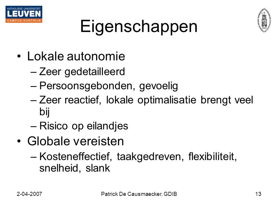 Patrick De Causmaecker, GDIB
