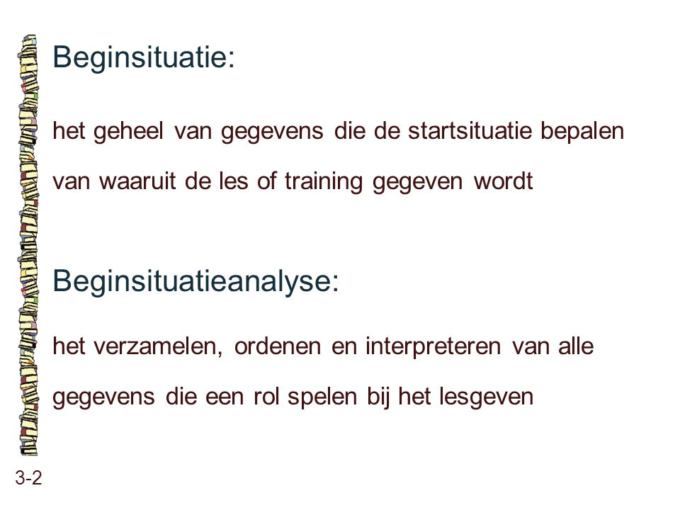 Beginsituatieanalyse: