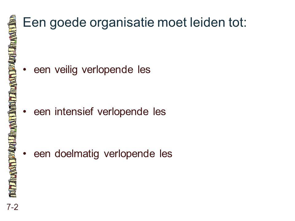 Een goede organisatie moet leiden tot: