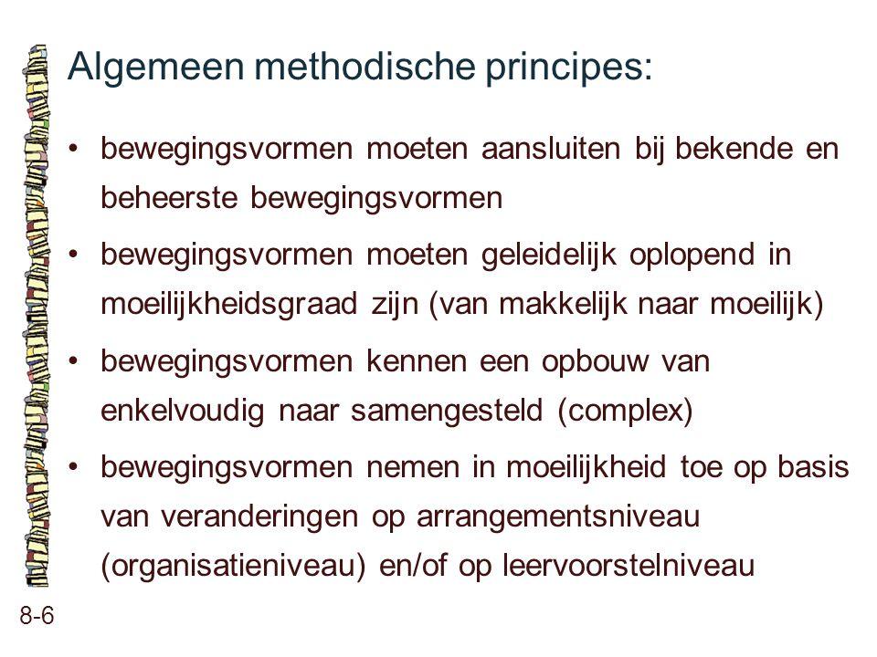 Algemeen methodische principes:
