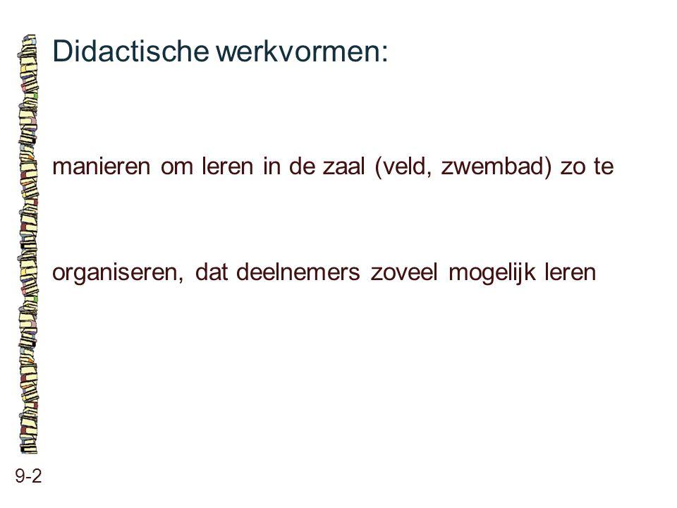 Didactische werkvormen:
